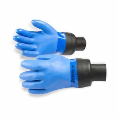 Blue PVC Glove - Bottleneck